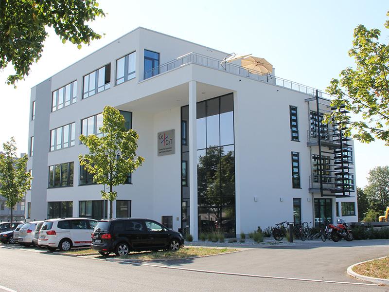 Das Gebäude der CeGat GmbH im Technologiepark Tübingen, entrepreneurin.eu, Universität Hohenheim